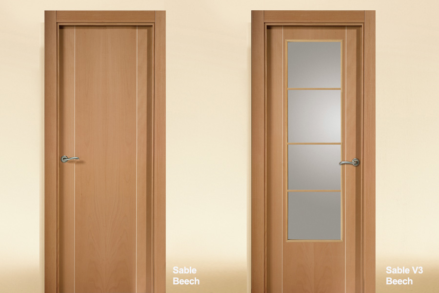 Flush-Interior-Door-Beech-Sable