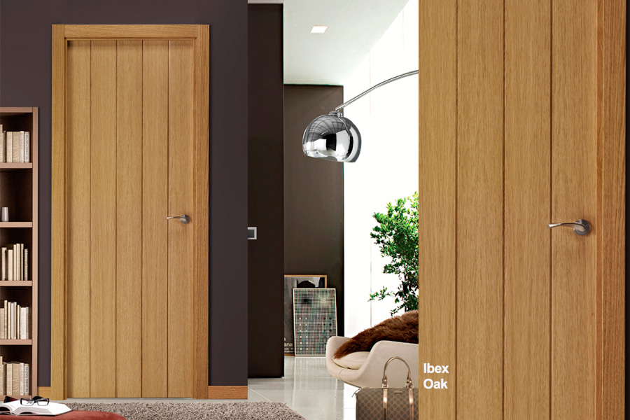 flush-interior oak-door